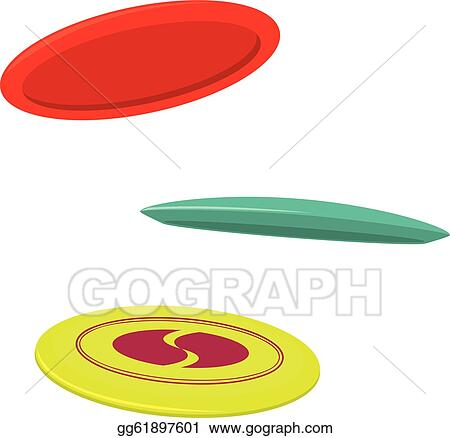 vector stock three disc golf discs stock clip art gg61897601 rh gograph com disc golf pictures clip art frisbee golf clip art