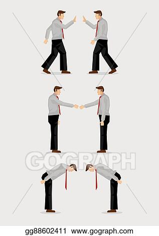 Vector clipart three ways of greeting gestures vector illustration three ways of greeting gestures vector illustration m4hsunfo