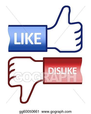 Drawings Thumb Up Like Dislike Symbol Stock Illustration