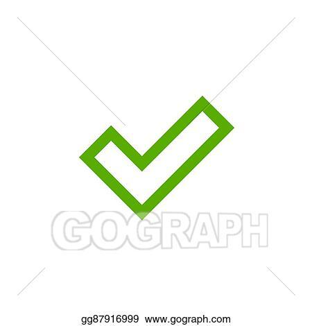 Vector Illustration Tick Green Sign Element Stock Clip Art