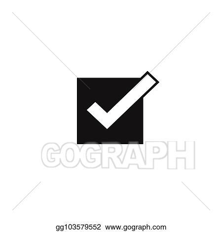 Vector Illustration - Tick icon vector symbol, checkmark isolated