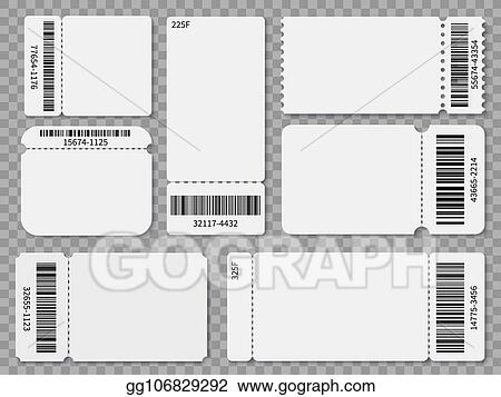 vector stock ticket templates blank admit one festival concert