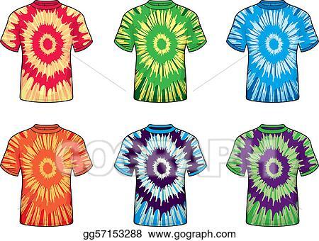 vector art tie dye shirts eps clipart gg57153288 gograph rh gograph com tie dye peace sign clipart tie dye shirt clipart