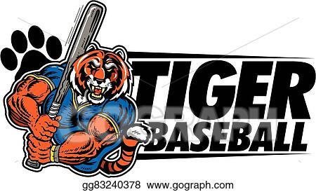 EPS Vector - Tiger baseball. Stock Clipart Illustration gg77614879 - GoGraph