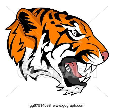 vector art tiger roar clipart drawing gg67514038 gograph rh gograph com tiger head clipart free roaring tiger head clipart