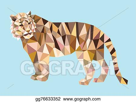 Tiger Triangle Low Polygon Style