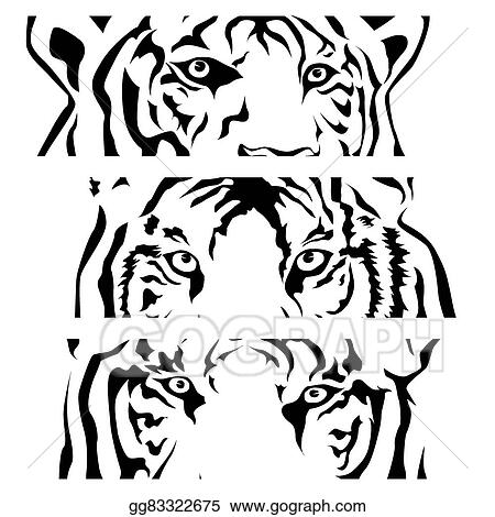 Vector Stock Tigers Eye Silhouette Vector Clipart Illustration
