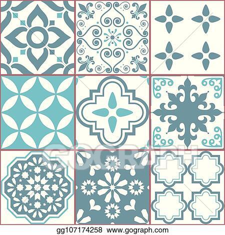 Tile Vector Seamless Azlejos Pattern