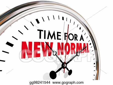 Drawing Time For A New Normal Change Clock Hands Ticking 3d