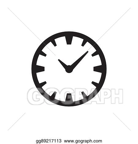 vector art time or clock icon eps clipart gg89217113 gograph