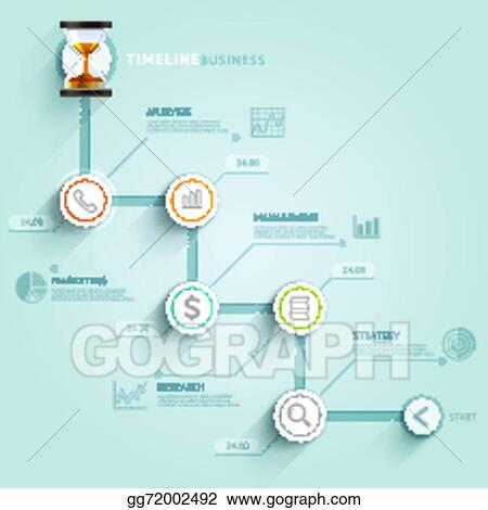 Timeline Infographic Template Vector Ilration Can Be Used For Workflow Layout Banner Diagram Number Options Web Design