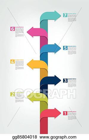 vector clipart timeline vertical report template chart scheme