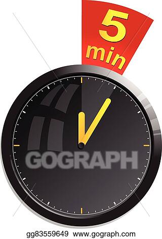 vector stock timer 5 minutes vector illustration stock clip art