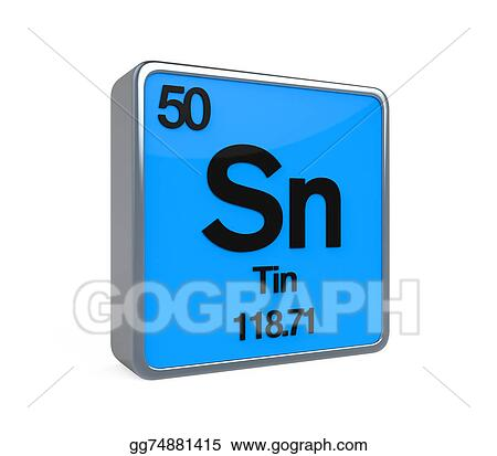 Clipart Tin Element Periodic Table Stock Illustration Gg74881415