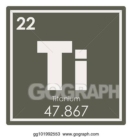 Stock Illustration Titanium Chemical Element Clipart Gg101992553