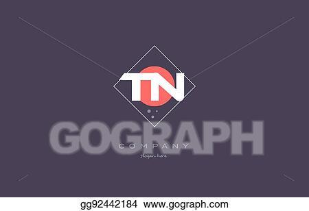 Vector Art - Tn t n vintage retro pink purple alphabet letter logo