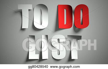 clip art to do list cut from paper on background stock