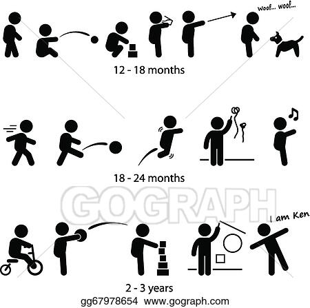 Vector Stock - Toddler development stages. Clipart ...