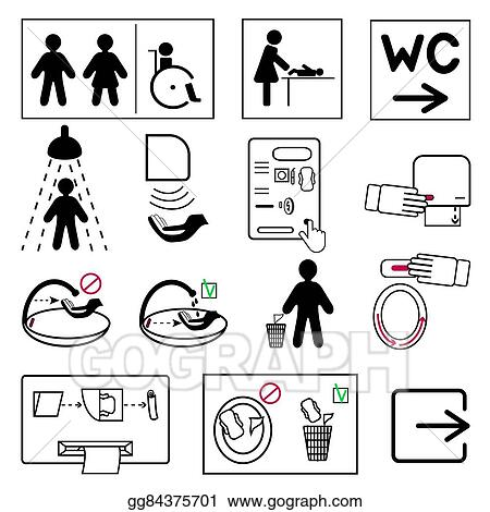 Toilet And Bathroom Signs For Public Places