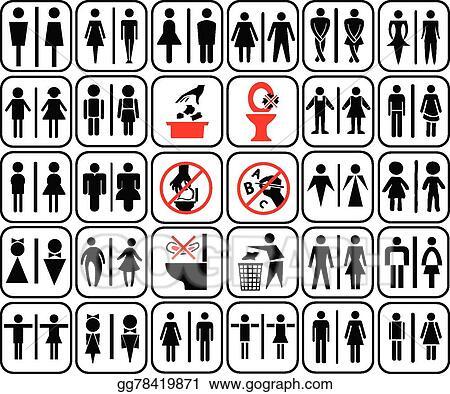Toilet Sign 02 Black