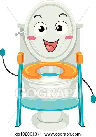 Clip Art Vector Toilet Training Seat Mascot Illustration