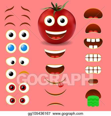 Vector Illustration - Tomato male emoji creator vector