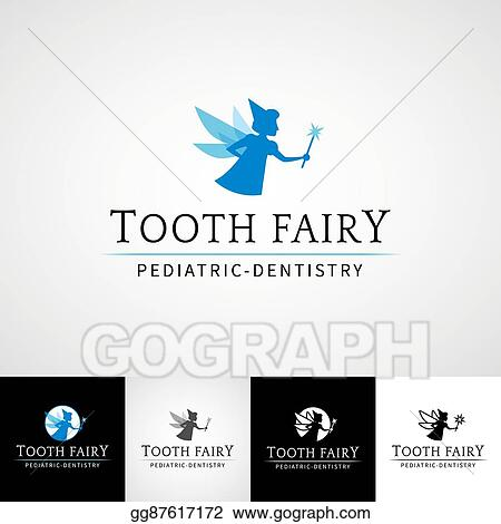 photograph about Tooth Fairy Stationary referred to as Vector Artwork - Teeth fairy dental brand template. teethcare