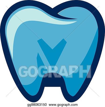 Clip Art Vector Tooth Logo Vector Design Dental Clinic Logo Stock Eps Gg98063150 Gograph