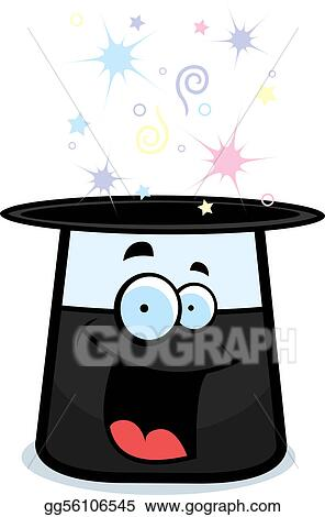 Vector Art - Top hat smiling. EPS clipart gg56106545 - GoGraph 378173ee8a16