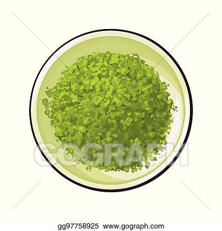 eps vector top view drawing of matcha green tea powder in bowl stock clipart illustration gg97758925 gograph gograph