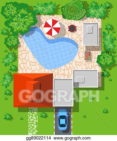 Vector Art - Top view of houses  Clipart Drawing gg89022114