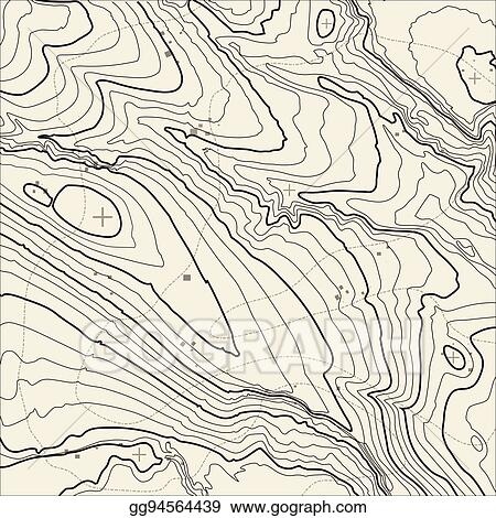 Topographic Map Mountain.Vector Clipart Topographic Map Background Concept With Space For
