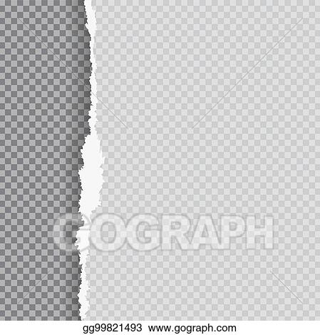 Clip Art Vector - Torn paper with ripped edge  Stock EPS gg99821493