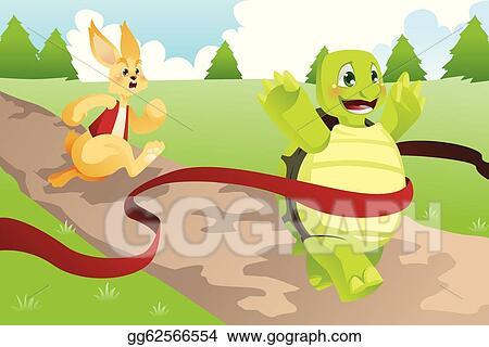 Vector Illustration Tortoise And Hare Eps Clipart Gg62566554
