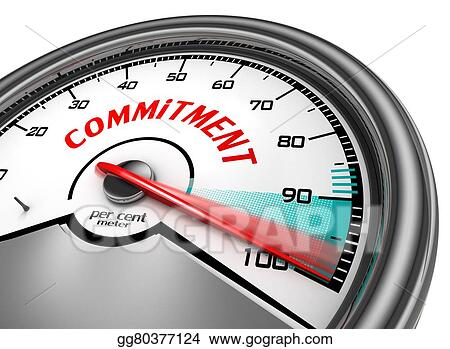 Clip Art - Total commitment symbol concept with meter  Stock