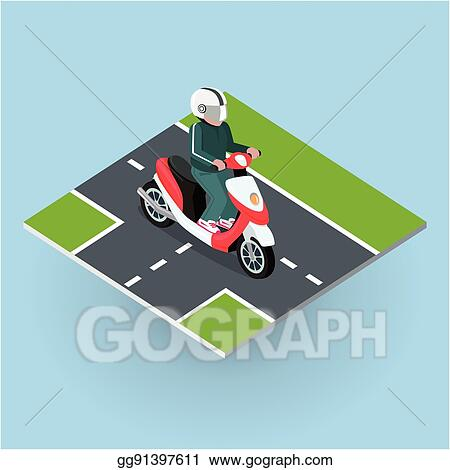 clip art vector touring moped motor bike on the road stock eps gg91397611 gograph https www gograph com clipart license summary gg91397611