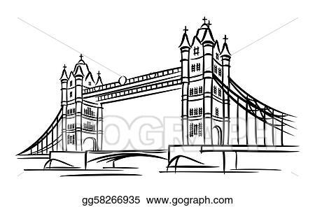 Eps Illustration Tower Bridge Vector Clipart Gg58266935 Gograph
