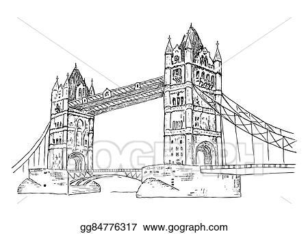 Eps Illustration Tower Bridge Vector Clipart Gg84776317 Gograph