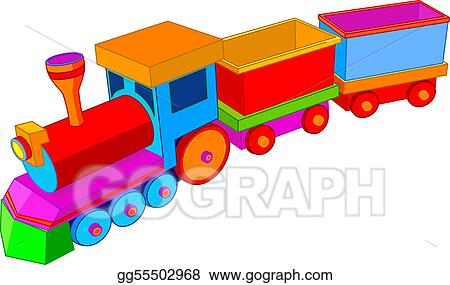 vector art toy train clipart drawing gg55502968 gograph rh gograph com toy train clipart toy train track clipart
