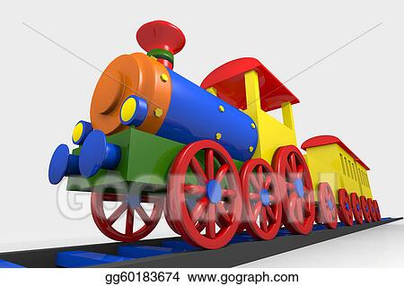 Drawing - Toy train  Clipart Drawing gg60183674 - GoGraph