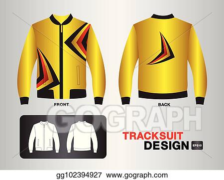 3f7ce239bdb Vector Clipart - Tracksuit   training design template for soccer ...