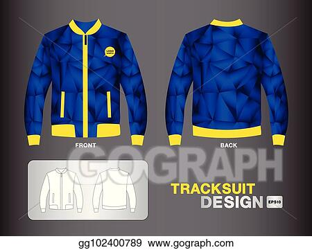 Vector Art Tracksuit Training Design Template For Soccer Jersey