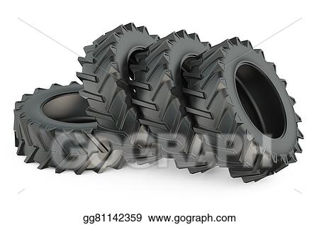 Tractor Tire Illustration