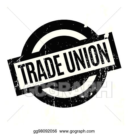 vector art trade union rubber stamp clipart drawing gg98092056