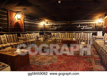 Traditional Bedouin tent in Al Ain Emirate of Abu Dhabi & Stock Photos - Traditional bedouin tent in al ain emirate of abu ...
