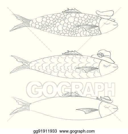 vector stock traditional portuguese sardines icon clipart Diagram of Shellfish traditional portuguese sardines icon
