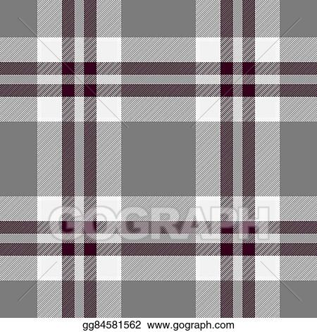 Clipart - Traditional scottish grey tartan pattern with claret