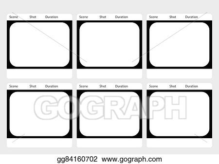 Vector Illustration  Traditional Television  Frame Storyboard
