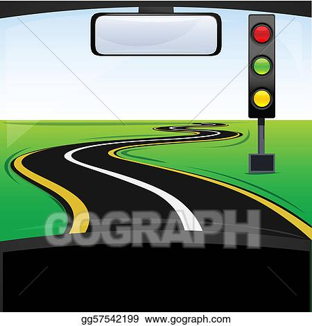 Vector Art - Traffic signal on the way  EPS clipart