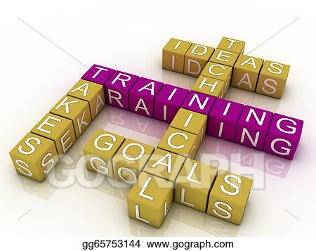 Drawings - Training and related words concept   Stock